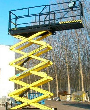 Plataforma Tijeras hasta 12 metros eléctrica