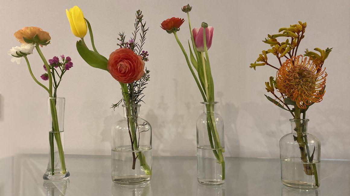 Invita las flores a la mesa